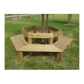 Banc tour d'arbre en bois, banc de jardin rond en bois, pour adultes.