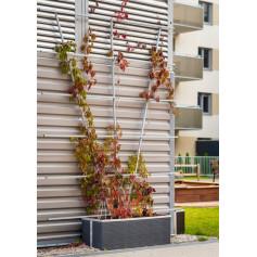 Jardinière rectangulaire en résine tressée - 70 cm