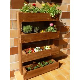 Jardinières en bois : Dronne - Ces bacs a fleurs superposés ou bacs jardinières bois, sont en douglas traité classe 3