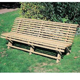 Banc de jardin en bois: Banc de square - Banc exterieur bois, de Cihb