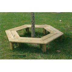 Banc tour d'arbre en bois, pour enfants - Ce banc de jardin bois ou banc de jardin tour d'arbre est en bois traité classe 4