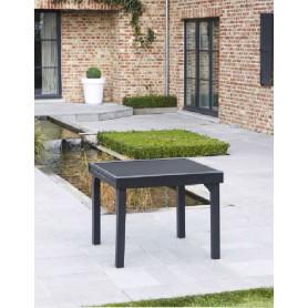 Table de jardin Modulo 4/8 - 90/180 noire