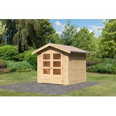 Abris bois 2 pentes 4, 62 m²