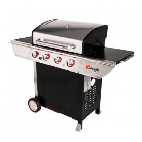 Barbecue Plancha Inox 4 brûleurs