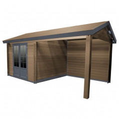Abri bois avec terrasse
