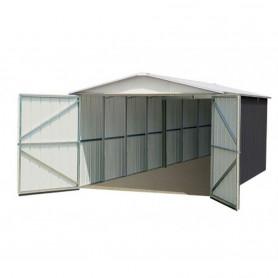 Garage métal gris 15 m²