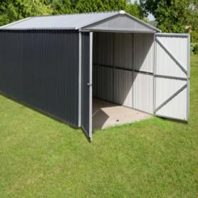 Garage métal gris 19 m²
