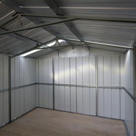 Garage métal gris 22 m²