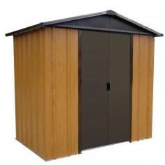 Abri métal aspect bois 2,2 m²