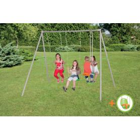 Portique balançoires 4 enfants