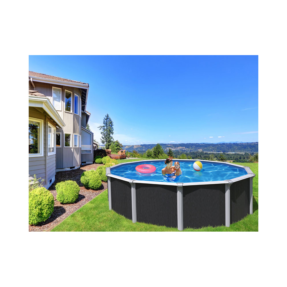 Piscine Hors Sol Avec Toboggan piscine hors sol 12 m³ - cour et jardin