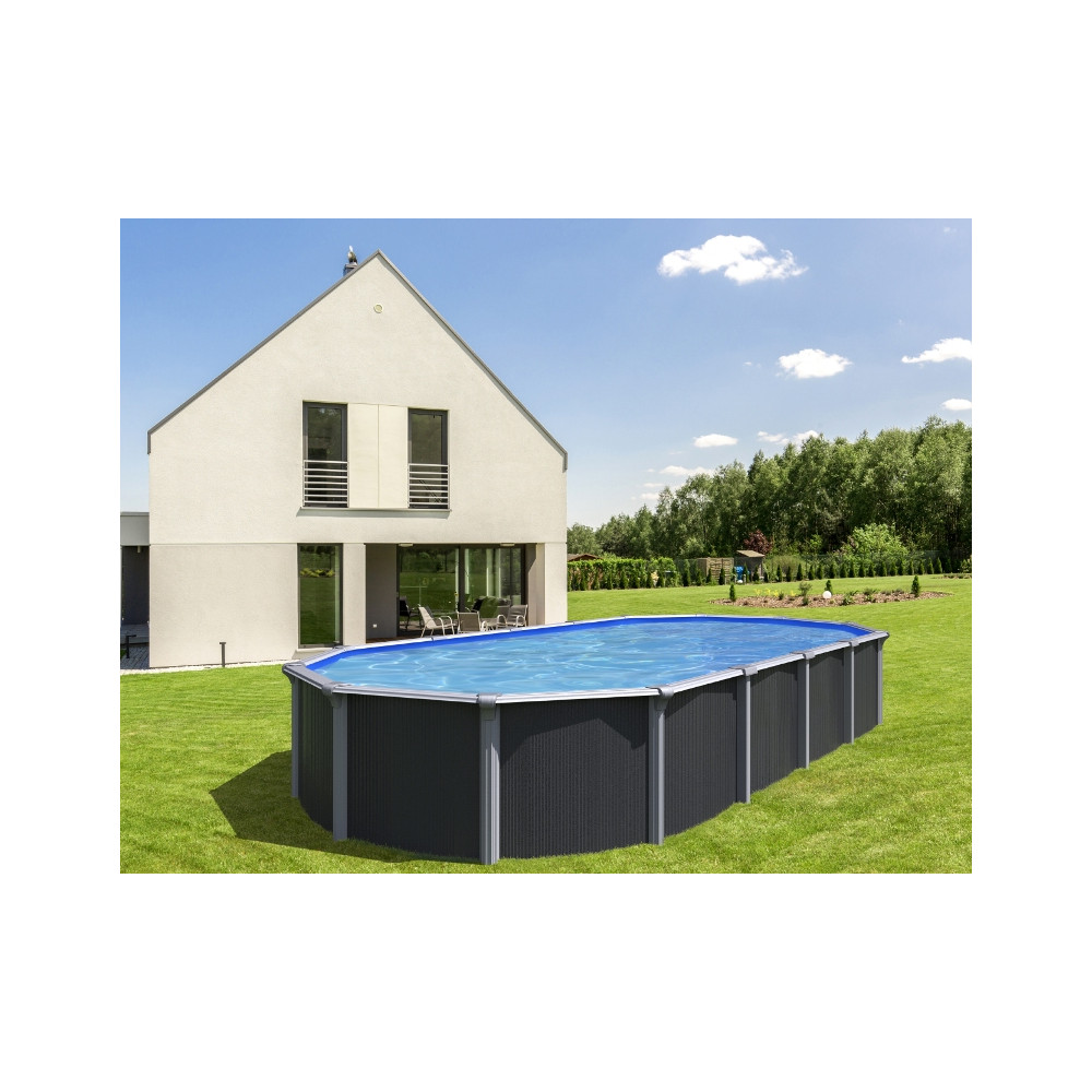 Piscine hors sol ovale 9 m³ - Cour et Jardin