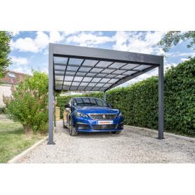 carport métal toit plat haute résistance
