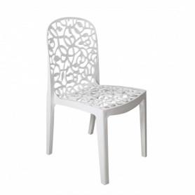 Lot de 6 chaises FLORA - Blanc