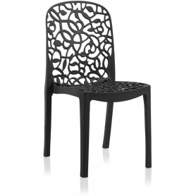 Lot de 6 chaises FLORA - Anthracite