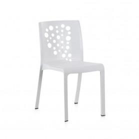 Lot de 6 chaises COCKTAIL - Blanc- polyéthylène recyclé