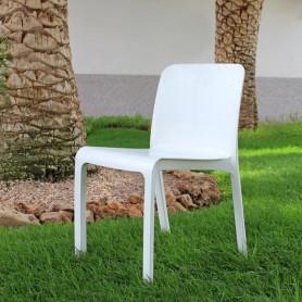 Lot de 6 chaises GRANA - Blanc-