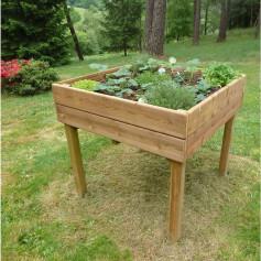 Table potagère TPO01 de 100 x 100cm. Ce carré potager sur pied est en bois traité classe 4. Jardinière surélevée
