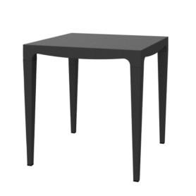 Table de jardin carré MASTER 70 - Anthracite-polypropylène recyclé