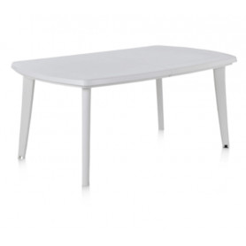 Table de jardin Extensible ATLANTIC - Blanc- polypropylène recyclé