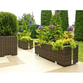 Jardinières rectangulaires avec système d'arrosage -125cm