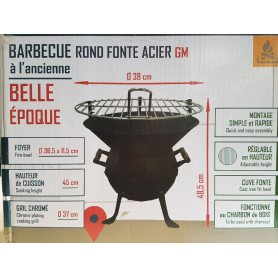 Barbecue Vintage - Fonte et Acier