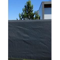 Filet brise vue gris anthracite 1m20 de haut x 50 m, brise vue pvc