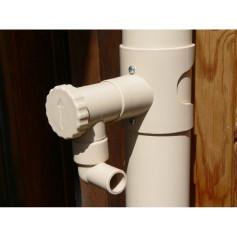 Capt'eau collecetur de gouttière cylindrique Ø80 et Ø100 mm