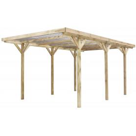 Carport bois toit PVC -MAX