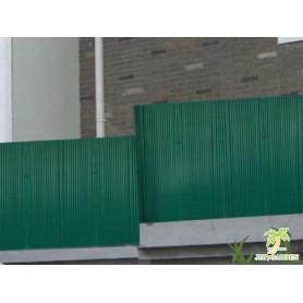 Canisses PVC vert foncé H120cm pour panneaux grillage 2,50m.