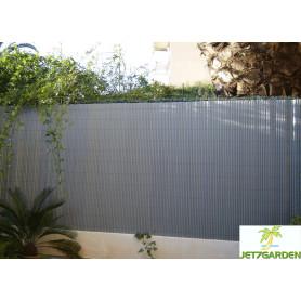 Canisses PVC GRIS PERLE H120cm pour panneaux grillage 2,50m.