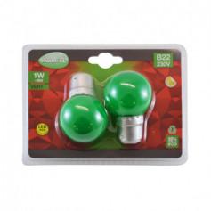 AMPOULE LED B22 BULB 1W - couleur au choix