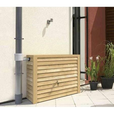 Réservoir eau de pluie mural WOODY bois clair