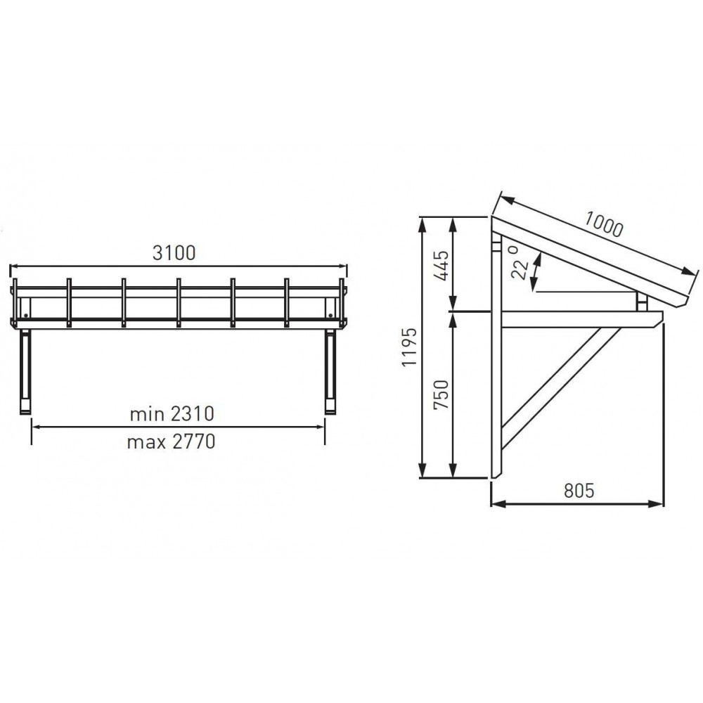 Plan Pour Construire Un Auvent En Bois auvent de porte, d'entrée, en bois, de garage, marquise de porte