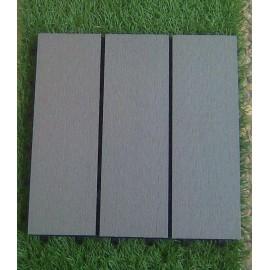 Dalles bois composite gris perle 30x30cm