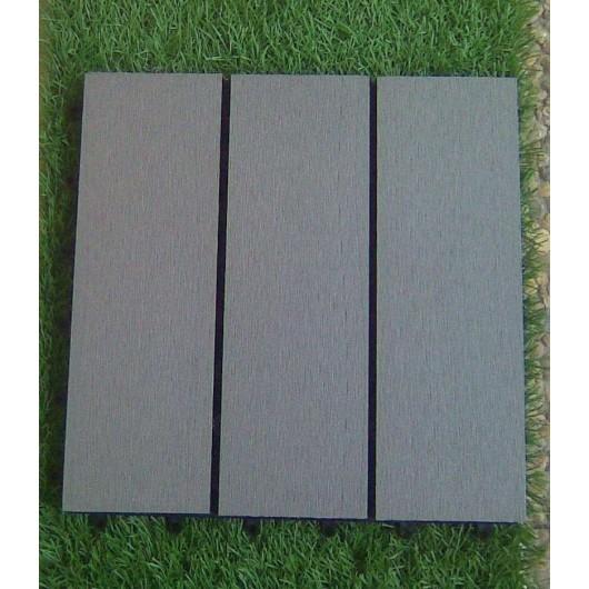 Dalles grises bois composite 30x30 clipsables for Dalle jardin gris