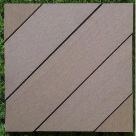Dalles bois composite sable 30x30cm