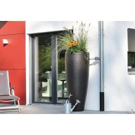 Récupérateur eau 2en1-300L+bac à plantes moka kit complet