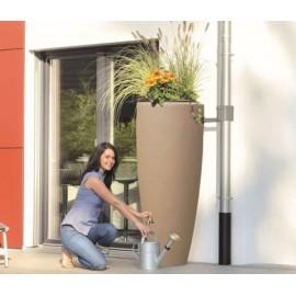 Récupérateur eau 2en1-300L+bac à plantes taupe kit complet
