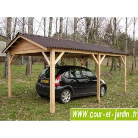 Abri voiture LIMOUSIN, carport de 3mx5m  (15m²)