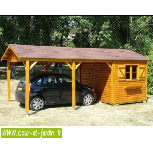 abri voiture abri de jardin 2 en 1 de 18m2 de cihb. Black Bedroom Furniture Sets. Home Design Ideas