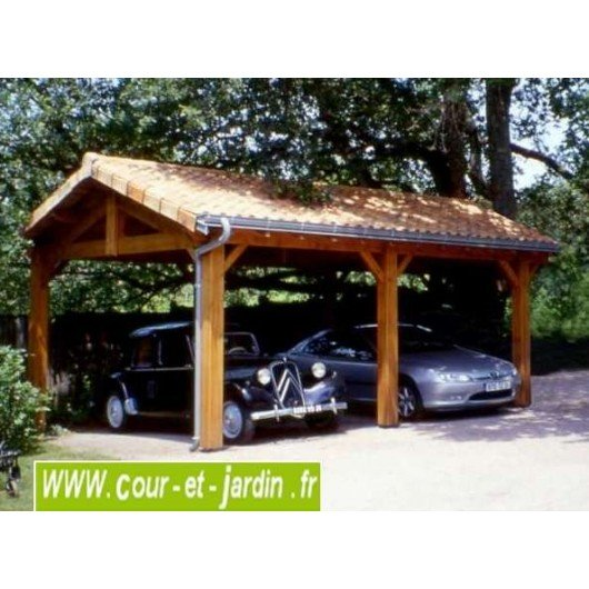 carport 2 voitures charpente en kit abris voiture en kit. Black Bedroom Furniture Sets. Home Design Ideas