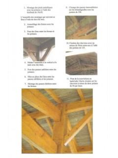 Abri 3 voitures en Charpente traditionnelle - carport bois 9x5m ou 9x6m