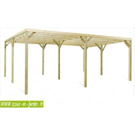 Carport MONZA DUE  2 voitures  6m x 5  (30 m2)