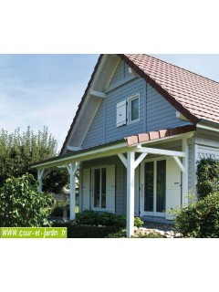 auvent terrasse en bois charpente en kit abri charpentes bois. Black Bedroom Furniture Sets. Home Design Ideas