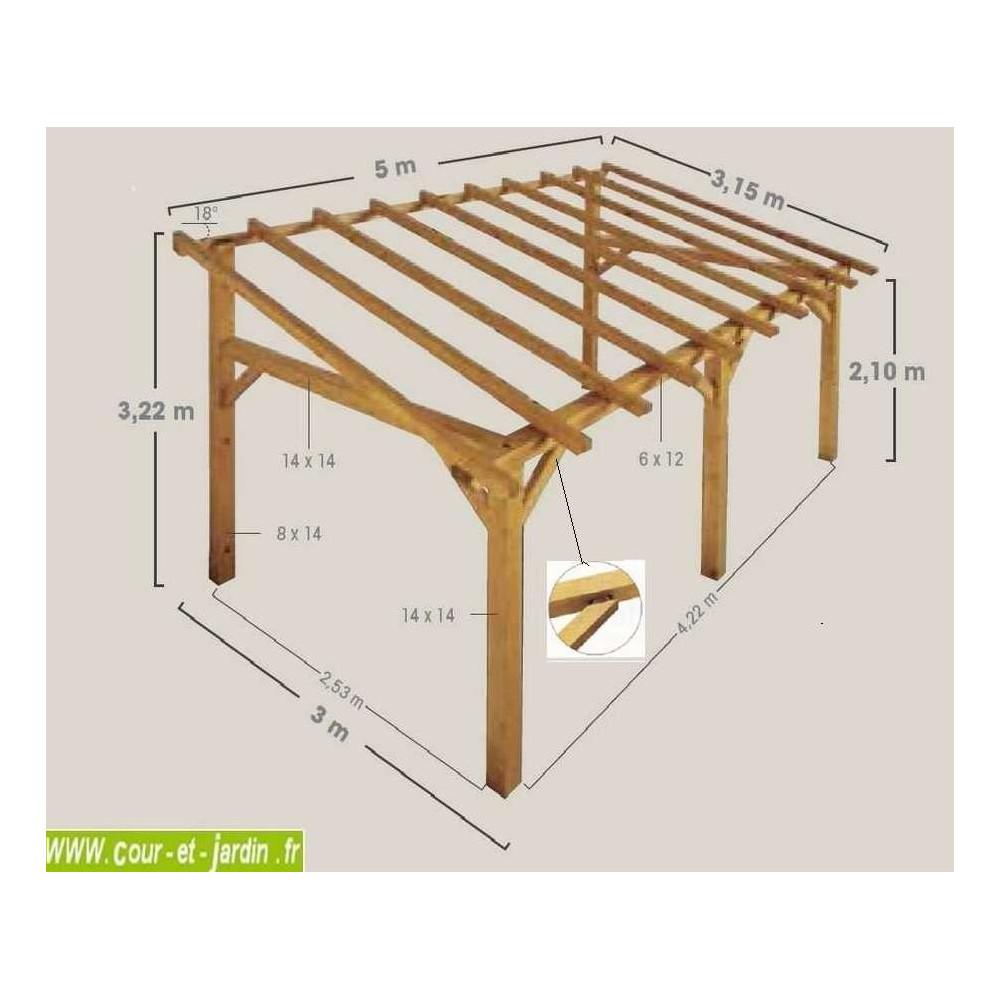auvent bois auvent en bois charpente en kit abri charpentes bois