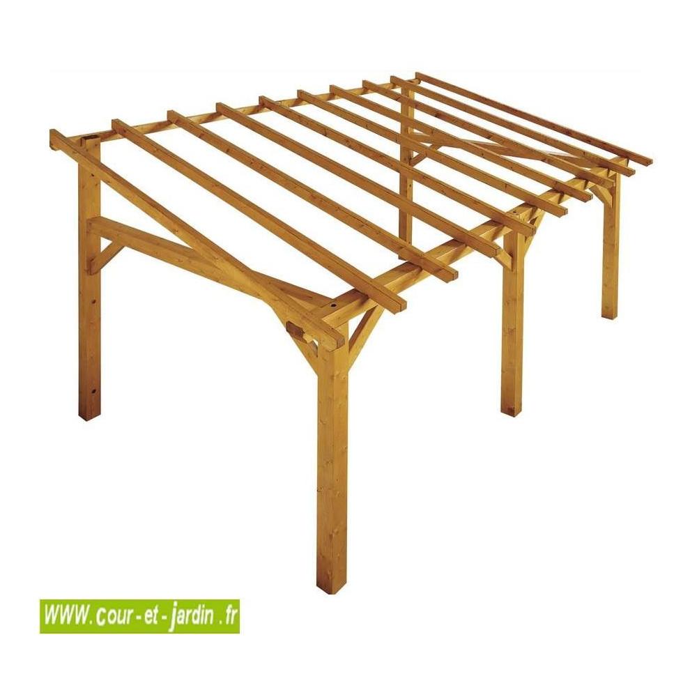 Auvent bois, auvent en bois, charpente, en kit, abri, charpentes bois
