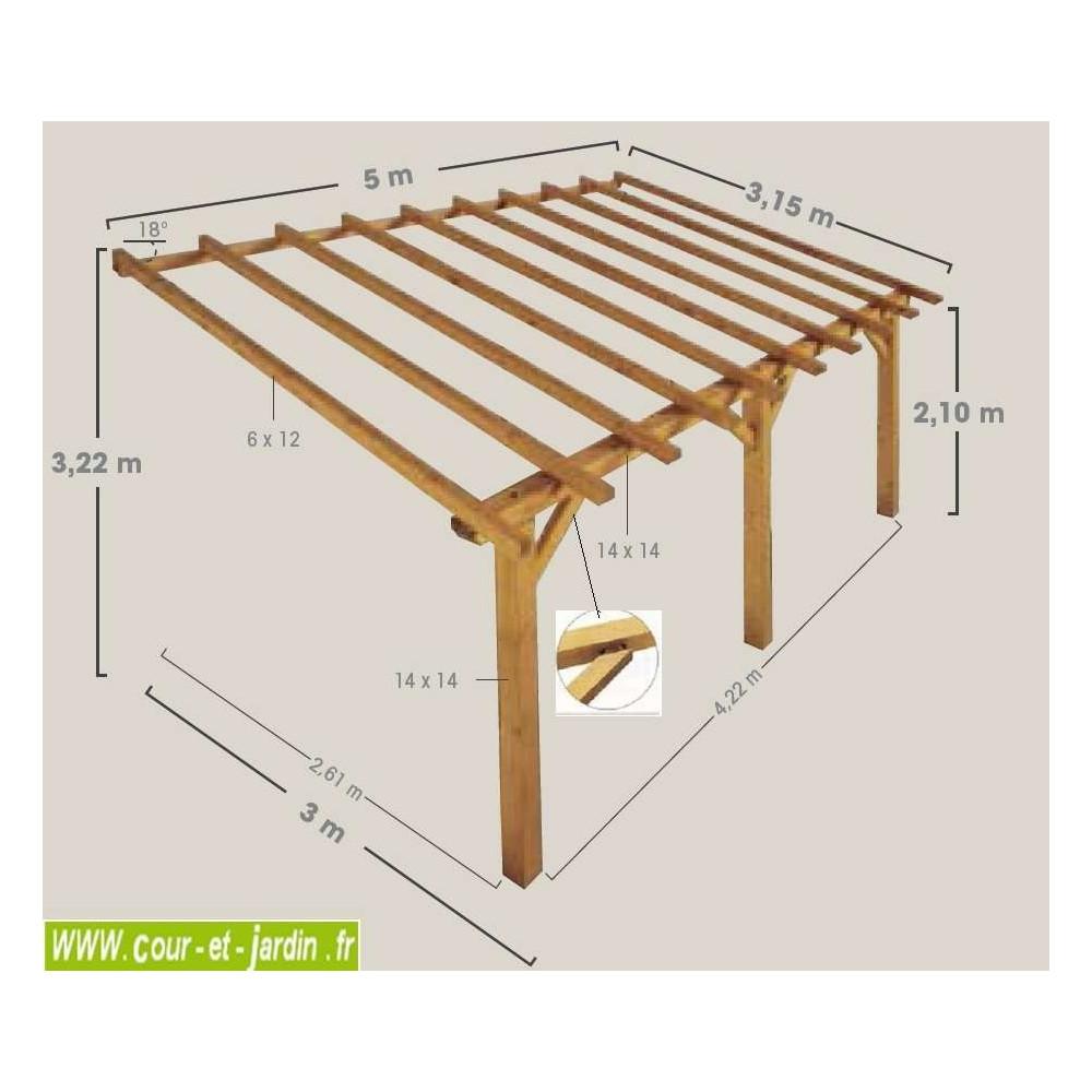 Tuile En Bois Nom carport adossé, carport à adosser, bois, abri voiture