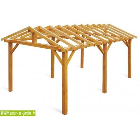 Carport VERCORS structure en bois non traité 540x334