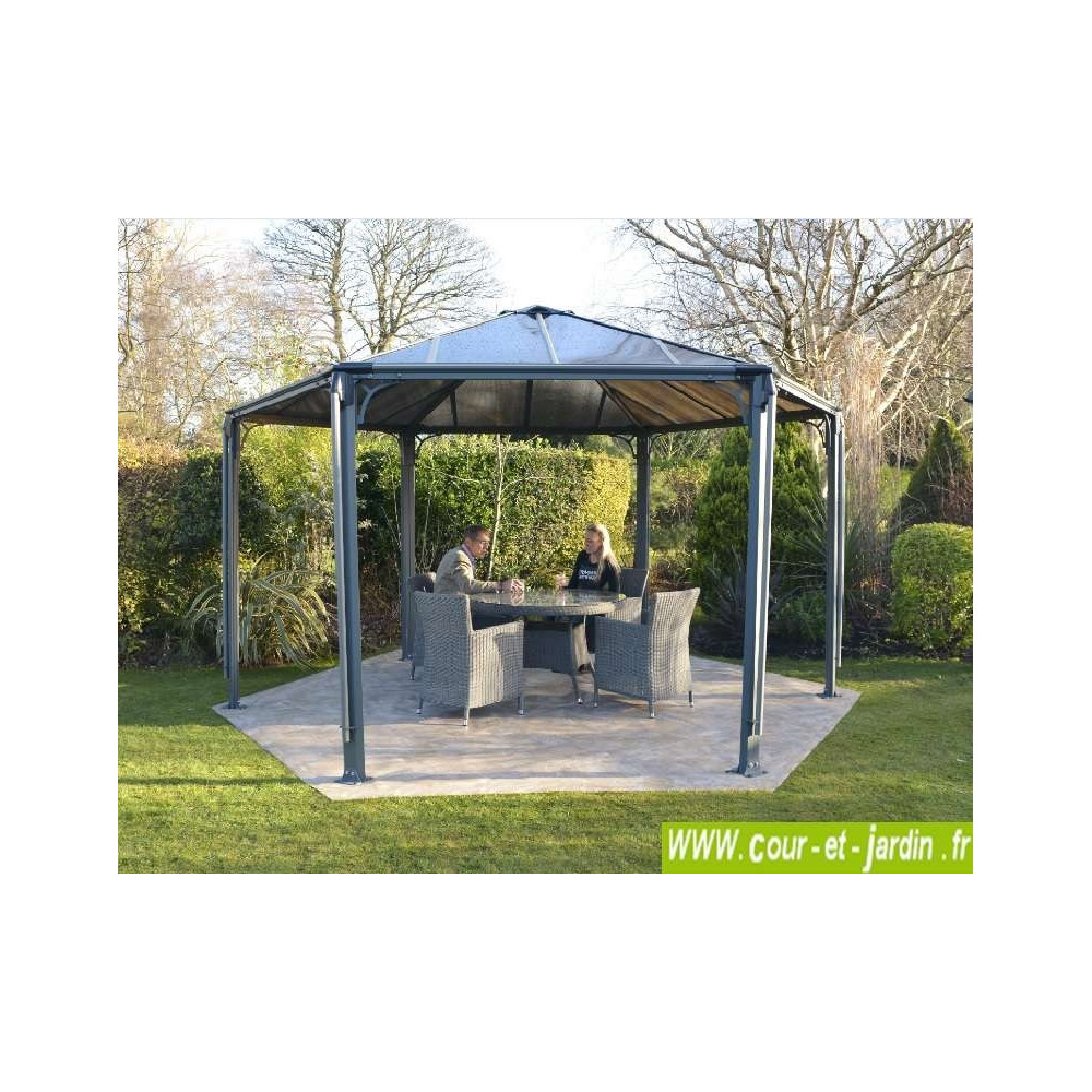 tonnelle hexagonale alu couv 39 terrasse pergola hexagonale aluminium. Black Bedroom Furniture Sets. Home Design Ideas